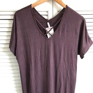 Plum colored cotton top.